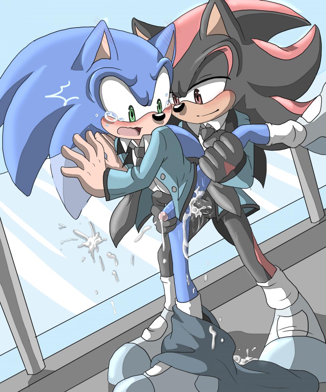 shadow the hedgehog+sonic the hedgehog